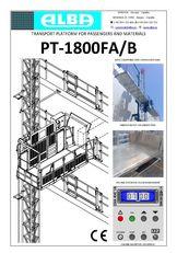 plate-forme suspendue PT ALBA 1800FA/B neuve